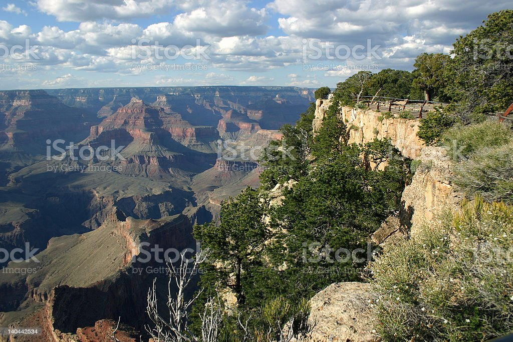 Grand Canyon South Rim - Observation Point royalty-free stock photo