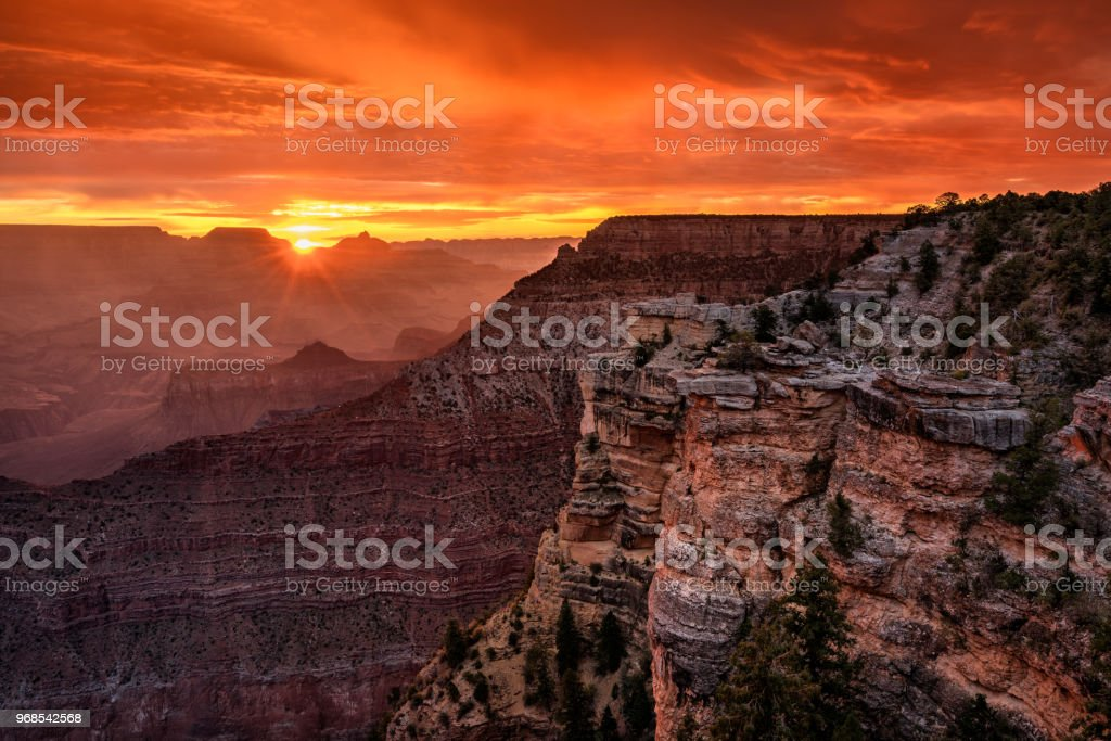 Grand Canyon Sunrise at Mather Point royalty-free stock photo