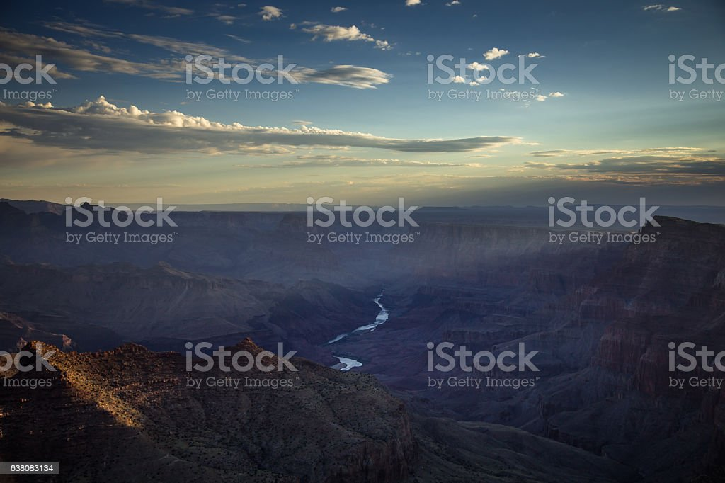 Grand Canyon Sunrise from Lipan Point stock photo
