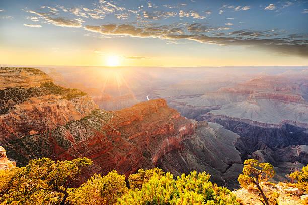 Grand Canyon Sunrise - Hopi Point stock photo
