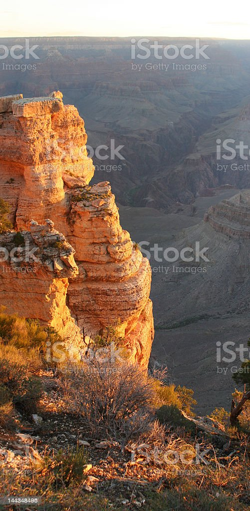 Grand Canyon Sunrise Vertical Pan stock photo
