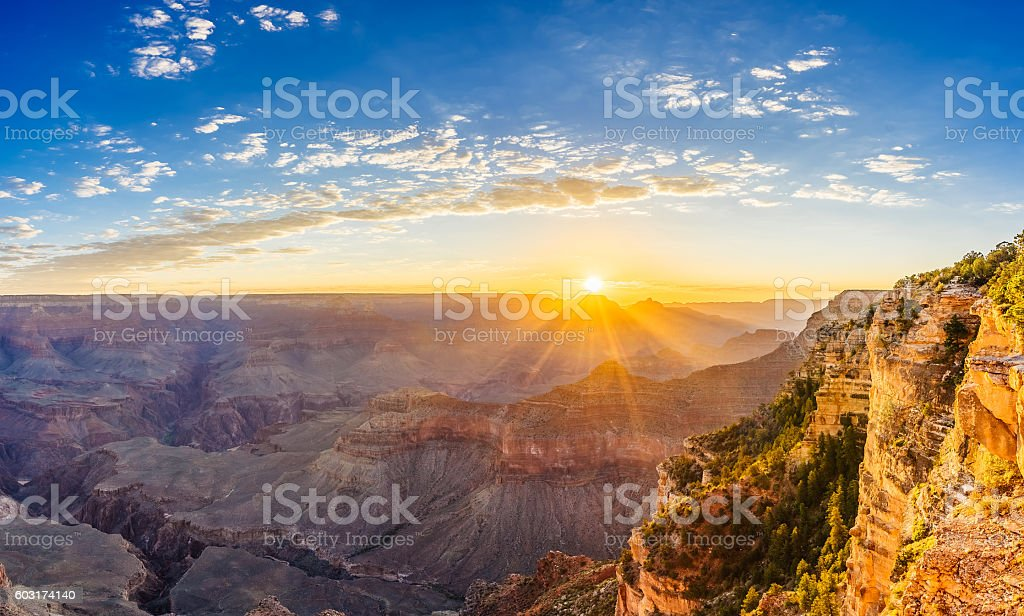 Grand Canyon Sunrise - Yavapai Point stock photo