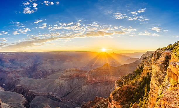 Grand Canyon Sunrise - Yavapai Point stock photo