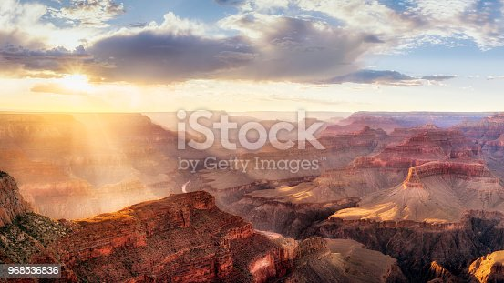 istock Grand Canyon Sunset from Hopi Point during summer monsoon 968536836