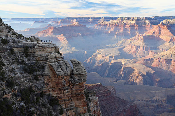 Grand Canyon Sunset From Mather Point stock photo