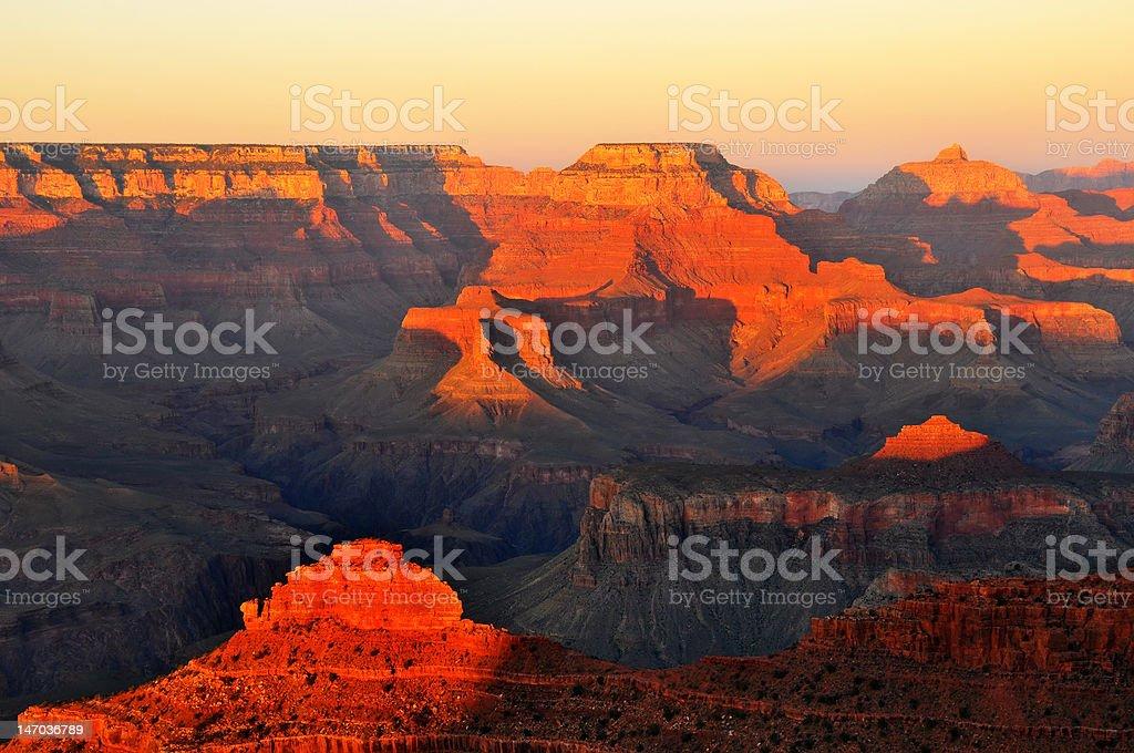 Grand Canyon Sunset stock photo
