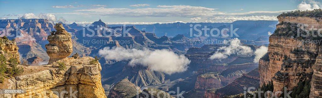 Grand Canyon the Duck on a cloudy morning, Arizona zbiór zdjęć royalty-free