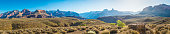 Panoramic vista from the remote Tonto Trail on the high desert plateau of the Grand Canyon National Park, Arizona, USA.