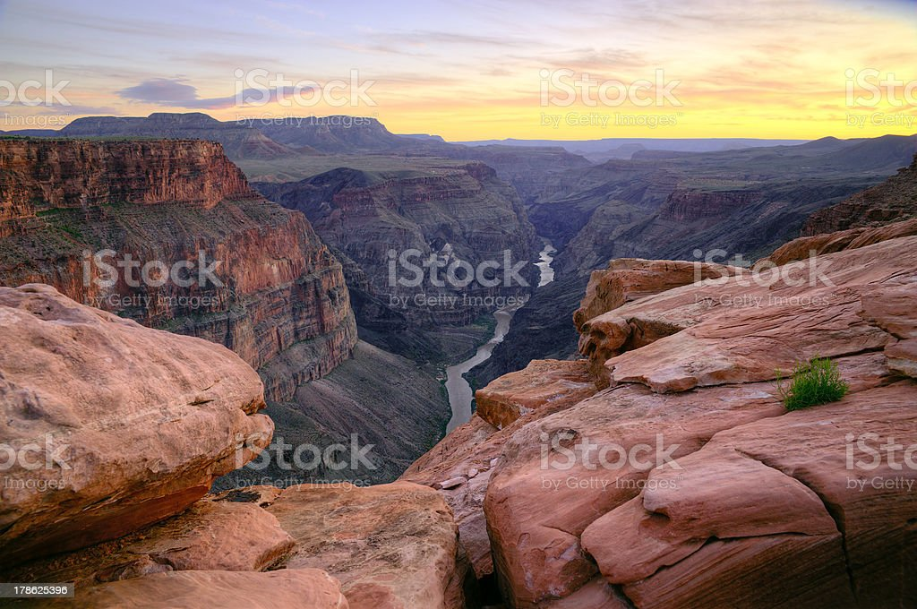 Grand Canyon - Toroweap Point after sunset royalty-free stock photo