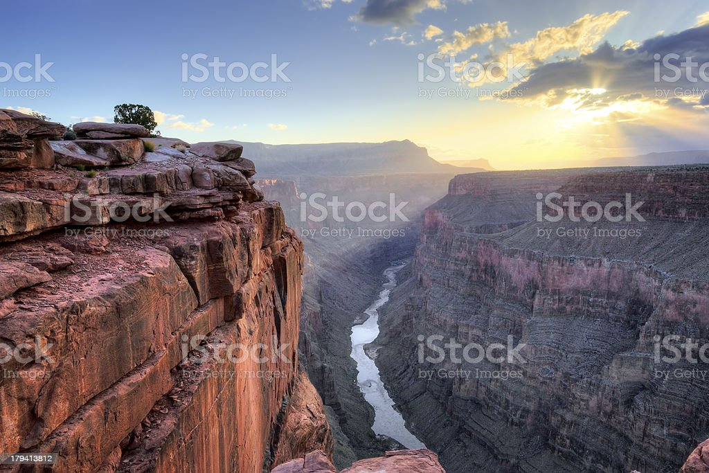 Grand Canyon Toroweap Point Sunrise royalty-free stock photo