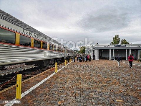 16 october 2018, Williams, AZ, USA: Gran Canyon vapor train in Williams train station