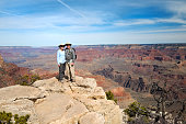Mature couple portait at the Grand Canyon vacation