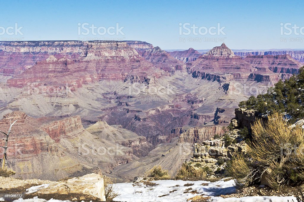 Grand Canyon view from South Rim, west drive stock photo