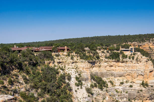 grand canyon village. tourist center buildings - hopi stock photos and pictures