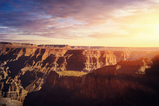 Grand Canyon West Rim bei Sonnenuntergang-Arizona, USA – Foto
