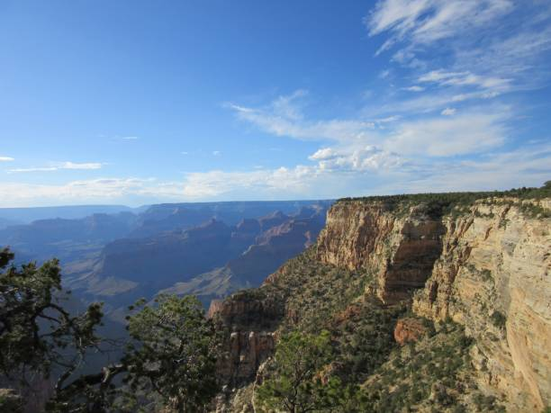 Grand Canyon with Blue Sky stock photo