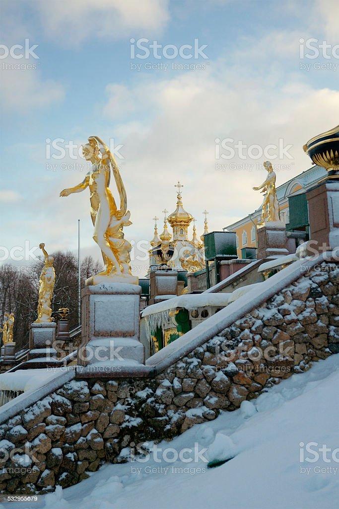 Grand Cascade in Peterhof, Russia - Royalty-free 2015 Stockfoto