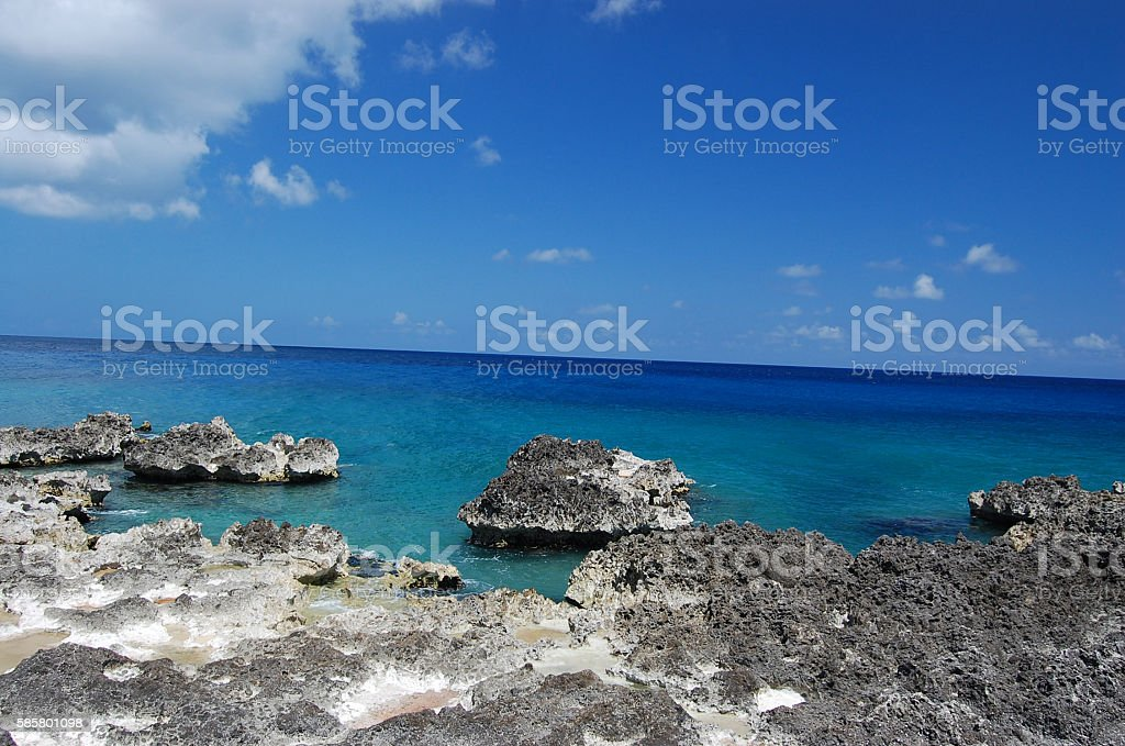 Grand Cayman Iron shore Iron shore on Grand Cayman.  Cayman Islands Stock Photo