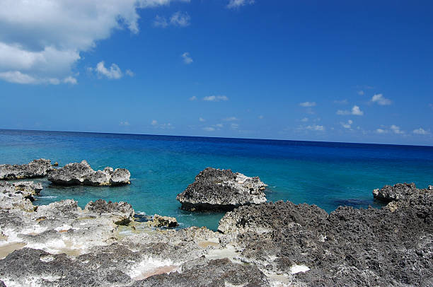Grand Cayman Iron shore stock photo