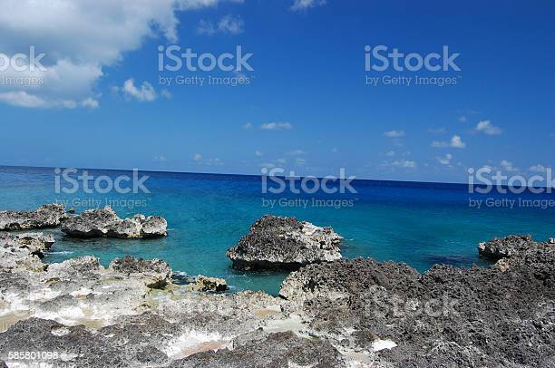 Grand Cayman Iron Shore Stock Photo - Download Image Now