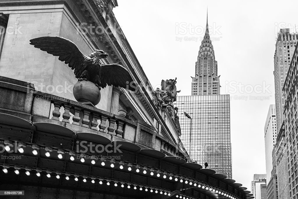 Grand Central and Chrysler Building. stock photo