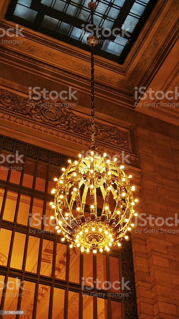 Grand central station antique globe shaped hanging chandelier light grand central station antique globe shaped hanging chandelier light nyc royalty free stock photo aloadofball Gallery