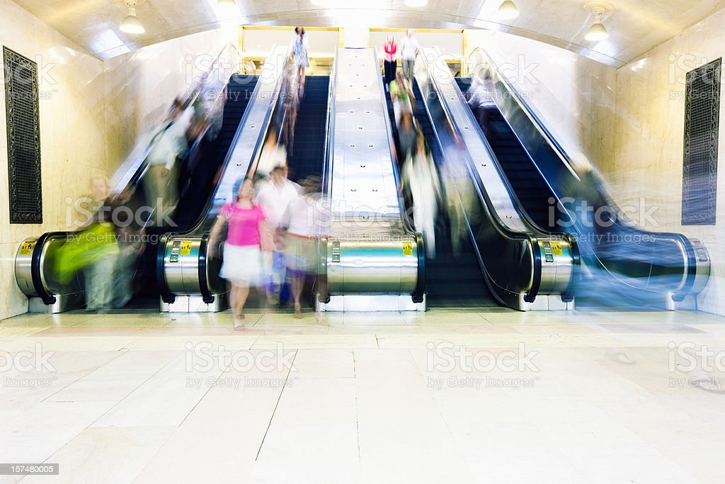 Grand Central Station Escalator royalty-free stock photo