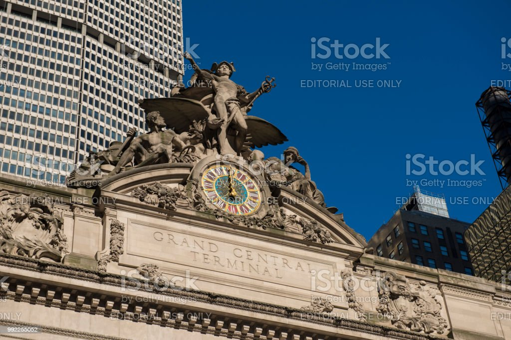 Grand Central Station Exterior in New York City stock photo