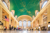 Entrance Hall of Grand Central Terminal (Grand Central Station) in New York City, USA.