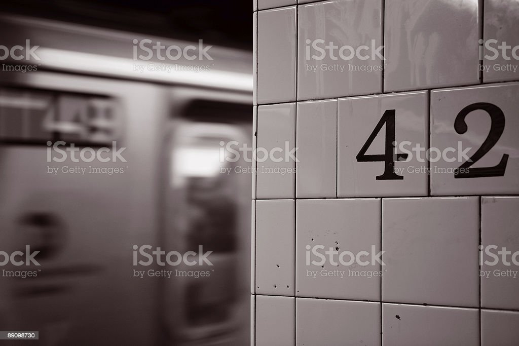 Grand Central Subway Station royalty-free stock photo