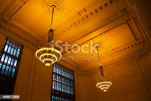 New York City, NY, United States of America. Grand Central Station Chandeliers.