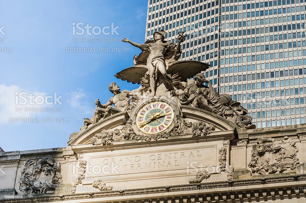 Grand Central Terminal clock stock photo
