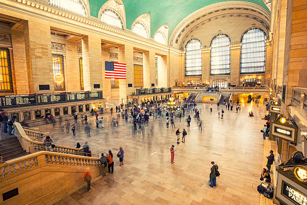 grand central terminal, new york city, usa - 車站 個照片及圖片檔