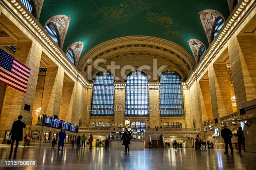 The morning commute at Grand Central Terminal in New York City is light due to health concerns on Thursday, March 19, 2020.