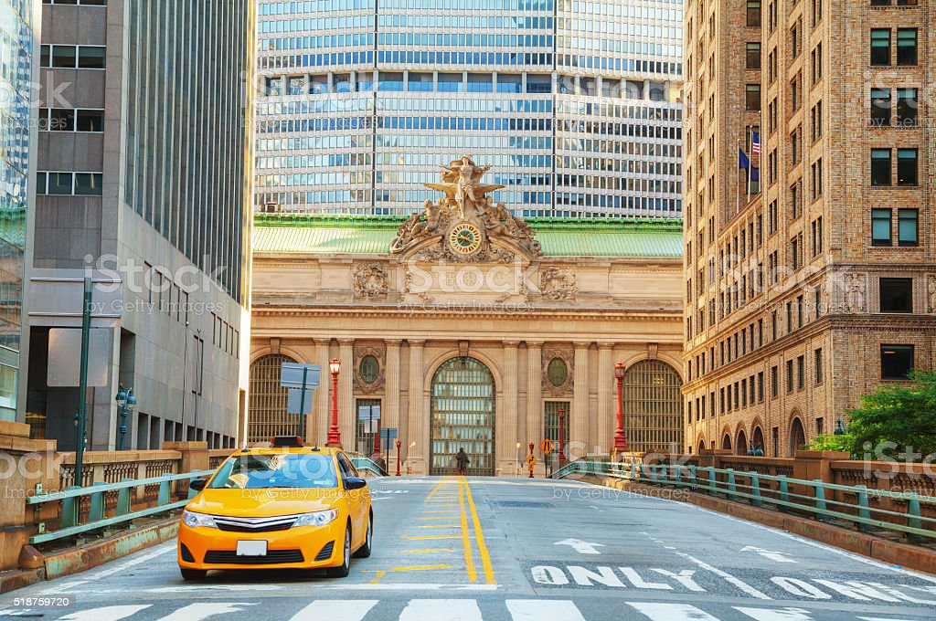Grand Central Terminal viaduc and old entrance stock photo