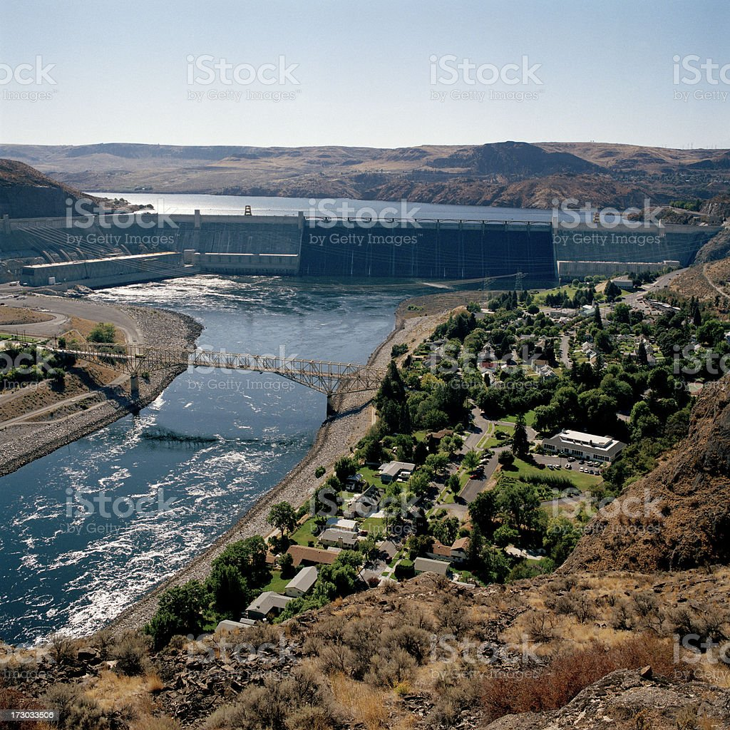 Grand Coulee Dam, Eastern Washington State, United States royalty-free stock photo