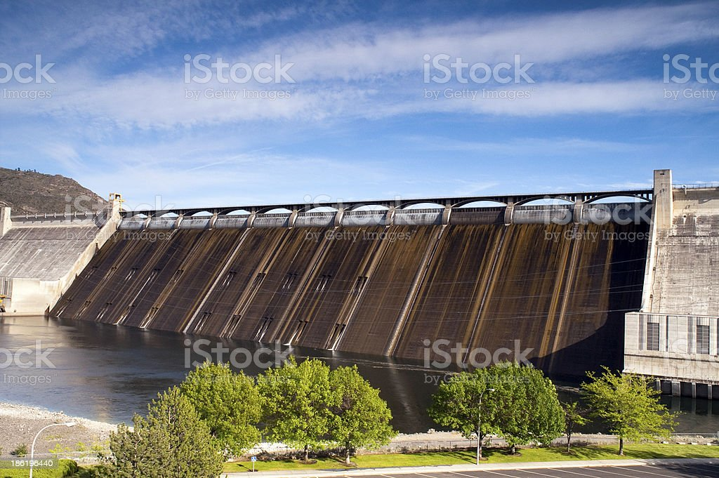 Grand Coulee Dam Hydroelectric Power Plant Columbia River royalty-free stock photo