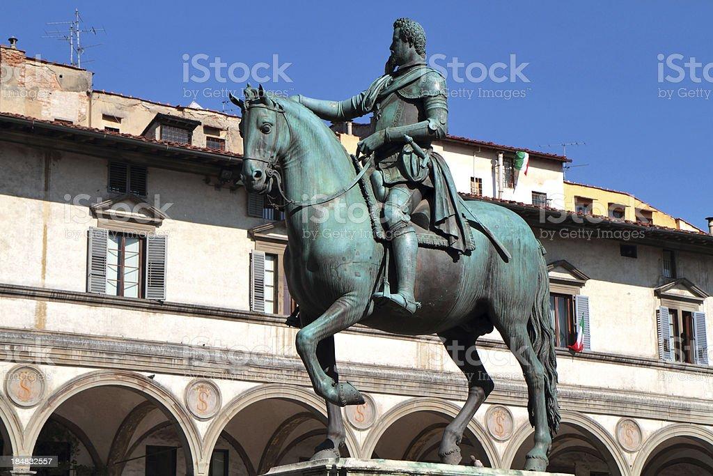 Grand Duke Ferdinando I by Giambologna, Florence, Italy stock photo