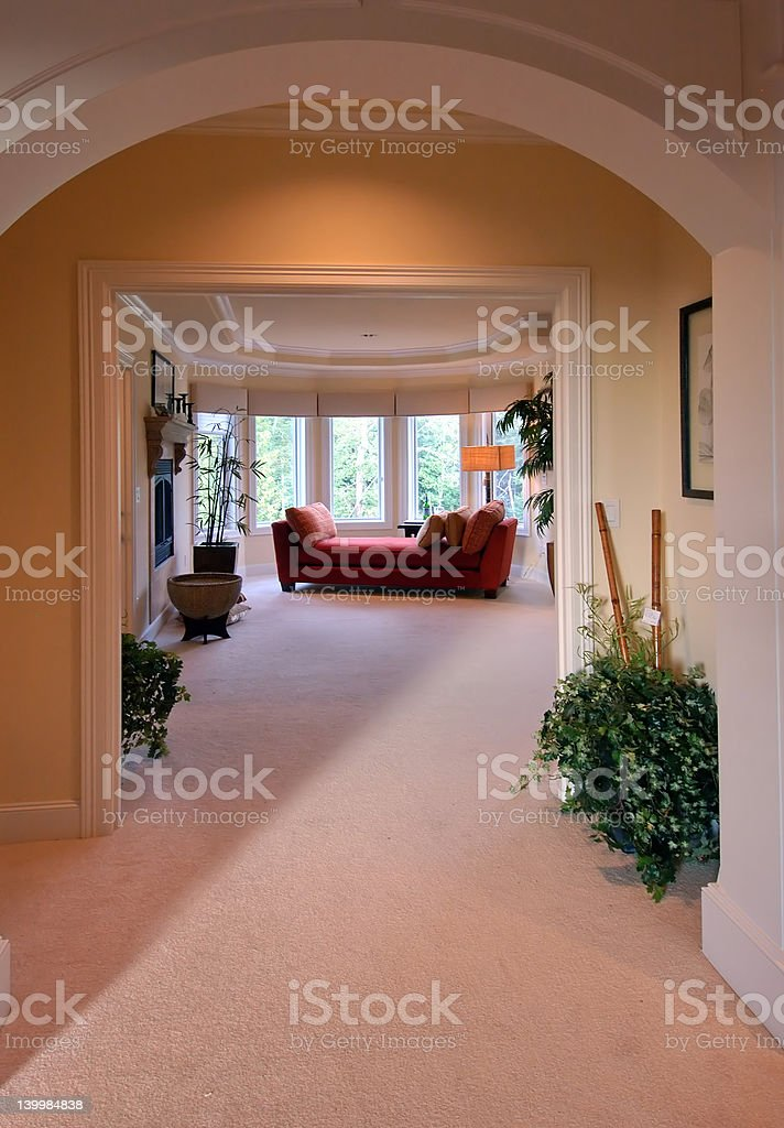 Grand Entrance to Master Suite royalty-free stock photo