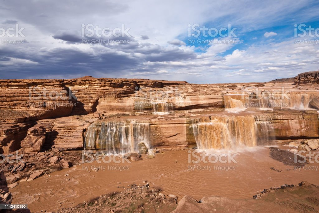 Grand Falls on the Little Colorado River stock photo