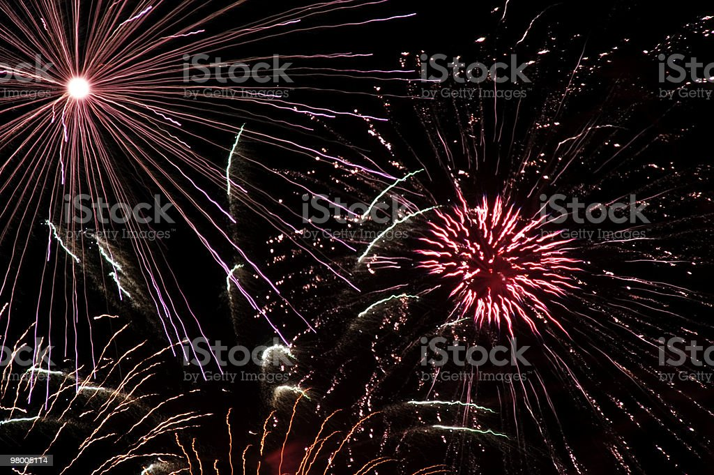 Grand Finale Fireworks Display Background royalty-free stock photo