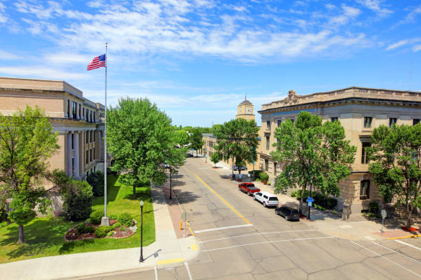 Grand Forks, North Dakota stock photo
