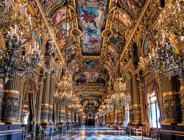 grand foyer i palais garnier, paris - palats bildbanksfoton och bilder