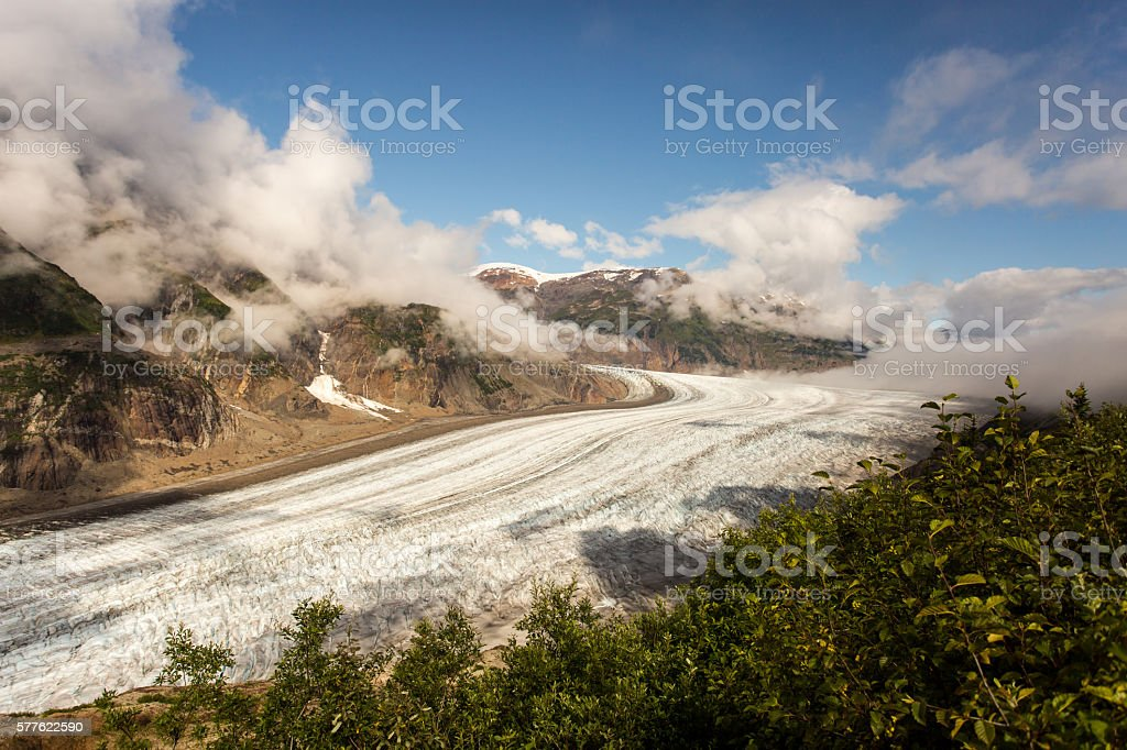 Grand Glacier in Sunlight stock photo