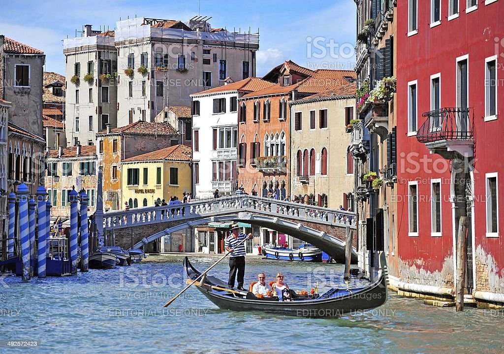 Grand Gondola dreaming, Venice, Italy stock photo
