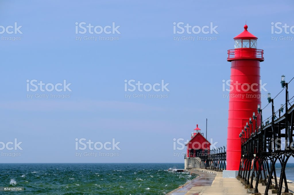 Grand Haven South Pierhead Inner Light, built in 1905 royalty-free stock photo