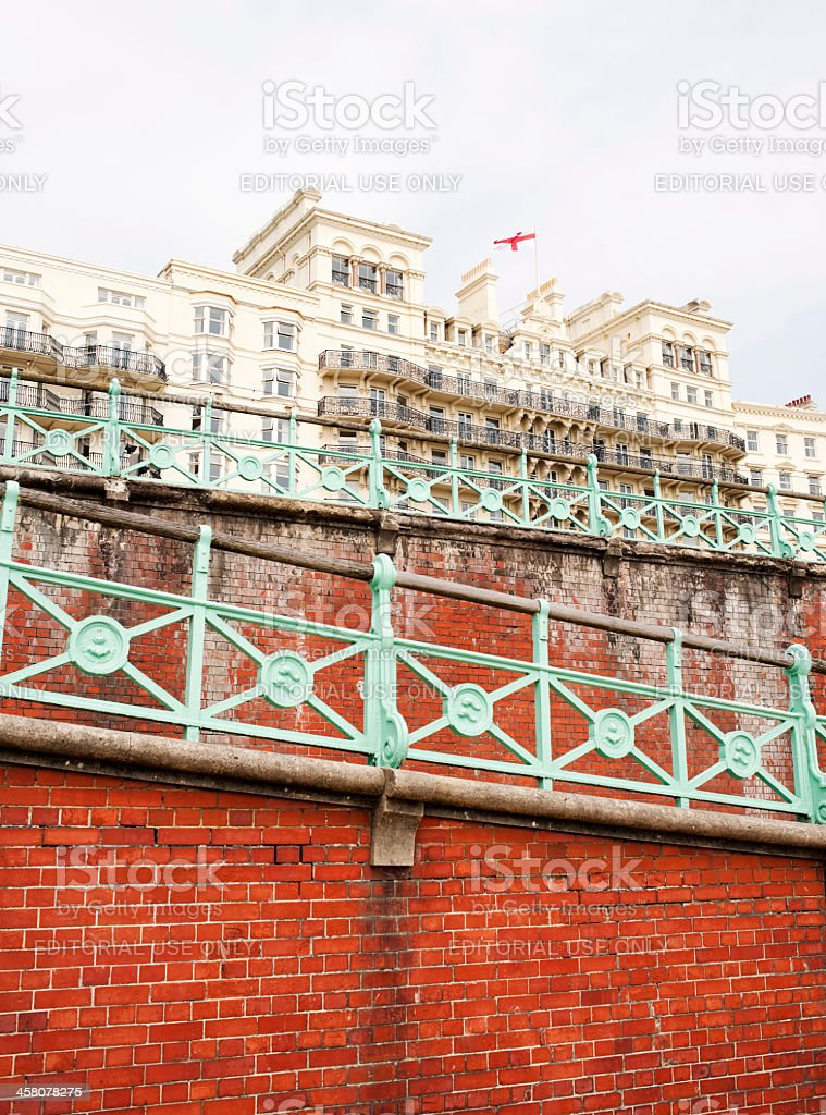 Grand Hotel Brighton, Beachfront stock photo