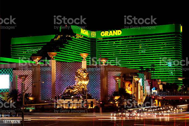 MGM Grand hotel casino in Las Vegas at night