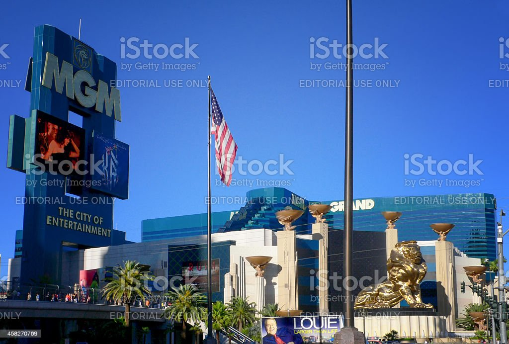 MGM Grand hotel casino in Las Vegas stock photo