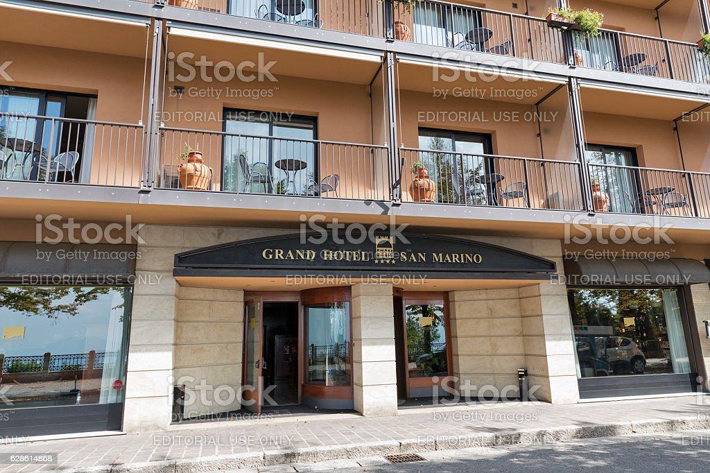Grand Hotel Facade In San Marino Stock Photo - Download ...